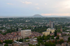 View from the mountain to the village Mashuk. Attractions Caucasian popular resort city of Pyatigorsk Stock Photo