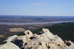 View from the mountain top. Pinnacle Mountain is a popular climbing destination for all levels of hikers in central Arkansas, just outside the state capitol of royalty free stock images