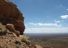 The View from a Cliff in Utah. View off a cliff from a mountain top in Utah Stock Images