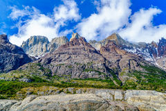 View of mountain in the Torres del Paine National Park Stock Photography