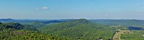 View from Mountain Tower. Beautiful panoramic view from Mountain Tower, Hot Spring, Arkansas Royalty Free Stock Image