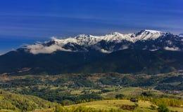 View of   mountain valley. In Romania Stock Photo