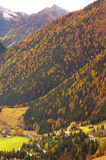View of a mountain valley Royalty Free Stock Images