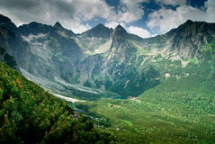 View into a mountain valley Royalty Free Stock Photos