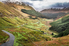 View of a mountain valley in Scotland Stock Photo