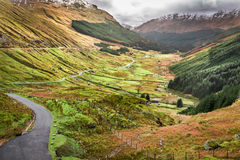View of a mountain valley in Scotland Royalty Free Stock Photography