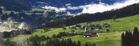 View on mountain village in the alps (lesachtal) Royalty Free Stock Photography