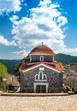 View of mountain village, Baltessiniko in Arcadia, Peloponnese,. Greece Royalty Free Stock Photos
