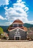 View of mountain village, Baltessiniko in Arcadia, Peloponnese,. Greece Stock Image