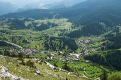 View of mountain village Royalty Free Stock Image