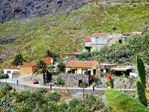 View of the mountain village of Masca on the island of tenerife royalty free stock photography