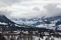 View on Mountain Village of Megeve Royalty Free Stock Photography