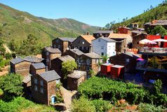 View of the mountain village of Piodao Stock Image