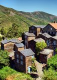 View of the mountain village of Piodao Royalty Free Stock Image