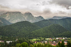 View of the mountain village Royalty Free Stock Photo