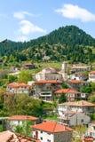 View of mountain village, Valtessiniko in Arcadia, Peloponnese, royalty free stock photo