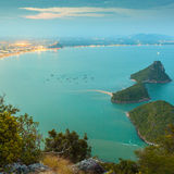 View from the mountainon the bay in Prachuap Khiri Khan Royalty Free Stock Photography