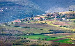 Mountainous landscape in Istria. View of the mountainous landscape in the interior of the peninsula of Istria, Croatia, Europe stock images