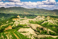 View of the mountainous terrain in Tuscany Royalty Free Stock Photography