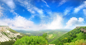 View from the mountains Royalty Free Stock Photos