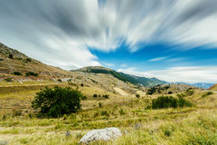 A view from the mountains of Abruzzo Italy Royalty Free Stock Photos