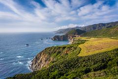 View of mountains along the Pacific Coast  Stock Image