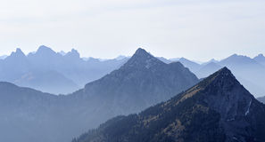 View of the mountains of the Alps in Austria Stock Images