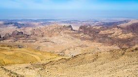 View of mountains around Wadi Araba area Royalty Free Stock Photos