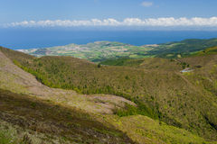 View on mountains in Azores Stock Photography