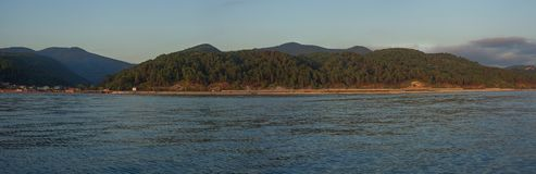 View on the mountains from the sea Royalty Free Stock Photography