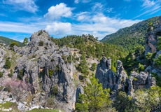 View in the mountains of the Cazorla Region Stock Photography