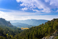 View in the mountains of the Cazorla Region Stock Photos