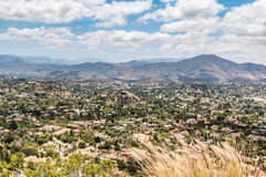 View of Mountains and City From Mt. Helix Park. In La Mesa, a city in San Diego, California stock image