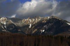 View mountains Ciucaş. Ciucaş massive mountains of rare beauty Royalty Free Stock Image