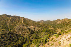 View in Mountains in Cyprus. Stock Photo