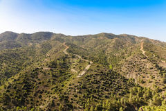 View in Mountains in Cyprus. Stock Photos