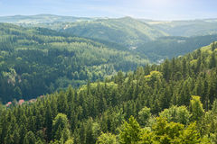 View of mountains in Czech republic Royalty Free Stock Photography