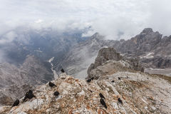 The view of the mountains - Dolomites, Italy Royalty Free Stock Photo