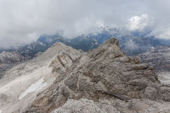 The view of the mountains - Dolomites, Italy Royalty Free Stock Images