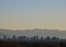 View of mountains and downtown Phoenix area, Arizona Royalty Free Stock Photography