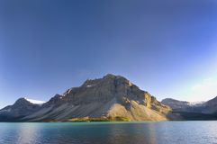View Of Mountains, Glaciers And Bow Lake Stock Image