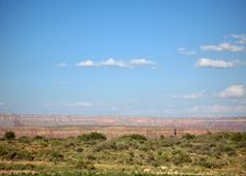 Grand Canyon West Rim in Northwestern Arizona. View of mountains at the Grand Canyon West Rim in Northwestern on the way to the Hualapai Indian Reservation in Royalty Free Stock Photos