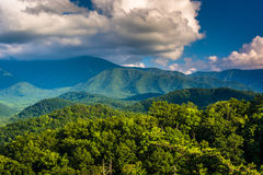 View of mountains in Great Smoky Mountains National Park, Tennes Stock Photography