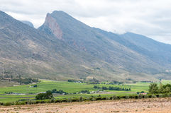 View of mountains in the Hex River Valley Stock Image