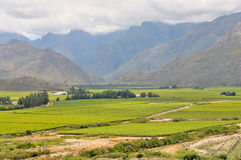 View of mountains in the Hex River Valley Royalty Free Stock Photo