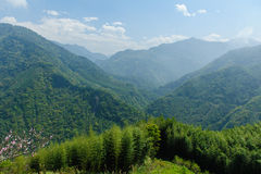 View of mountains in hsinchu, taiwan royalty free stock image