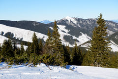 The view on mountains in Jasna Low Tatras Royalty Free Stock Photography