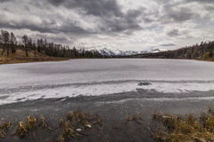 View of the mountains and lake. Royalty Free Stock Photography