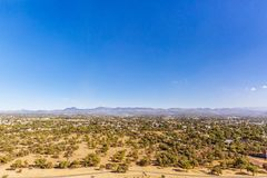 Landscape near the Ruins of Teotihuacan in Mexico. View of Mountains and Landscape near the Ruins of Teotihuacan in Mexico royalty free stock photo