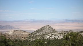 View of Mojave Desert descending from Big Bear Lake. View of mountains and Mojave Desert descending from Big Bear Lake, California near San Bernardino Royalty Free Stock Photography